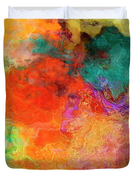 Mother Earth - Abstract Art - Triptych 2 Of 3 Duvet Cover