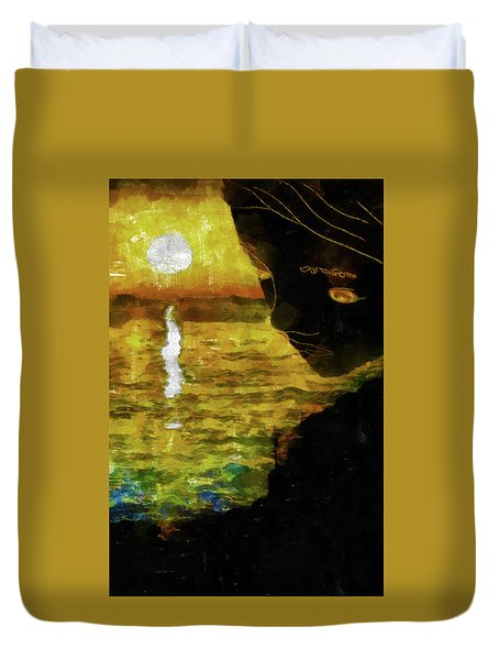 Duvet Cover featuring the photograph Mother Earth Watching by Joseph Hollingsworth