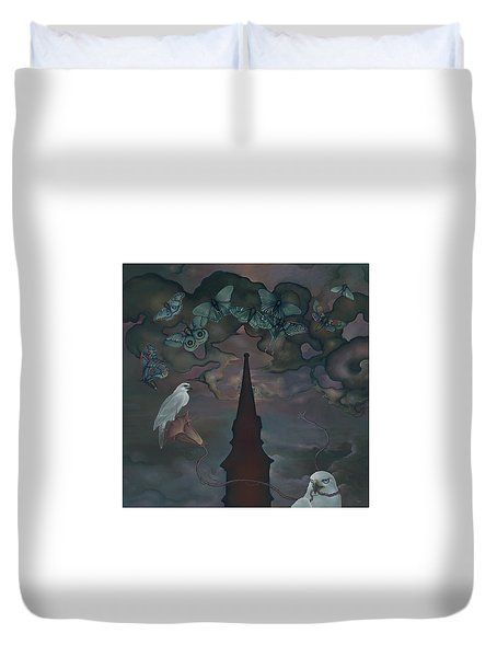 Duvet Cover featuring the painting Mother Emanuel by Andrew Batcheller