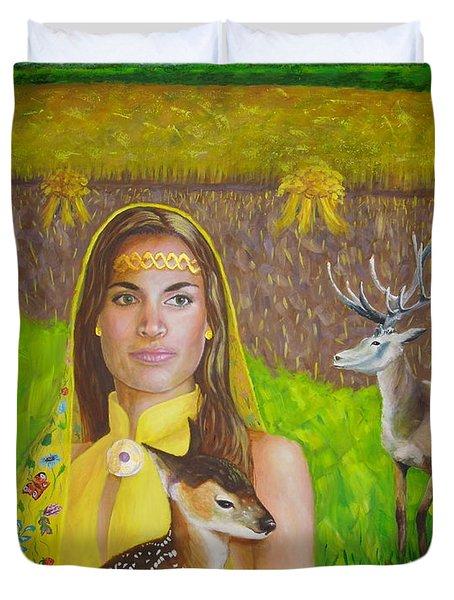 Mother Goddess Ker - Lammas Duvet Cover
