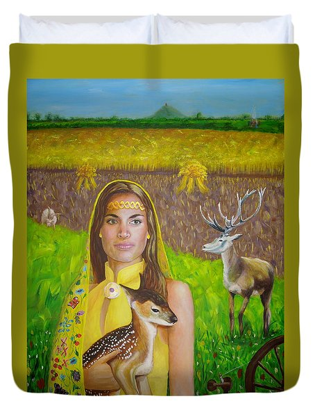 Mother Goddess Ker - Lammas Duvet Cover