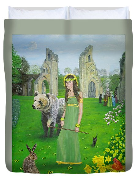 Mother Of Fire Goddess Artha - Spring Equinox Duvet Cover