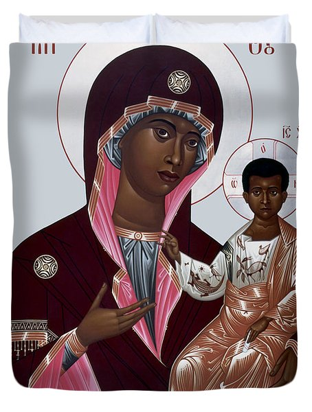 Mother Of God - Protectress Of The Oppressed - Rlpoo Duvet Cover