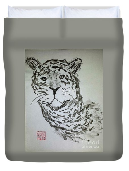 Mother Sister Jaguar Duvet Cover