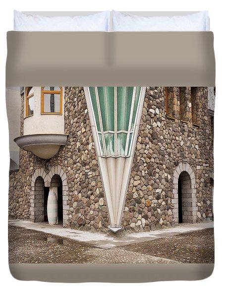 Mother Teresa House Duvet Cover by Rae Tucker