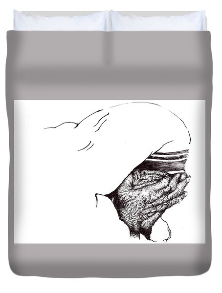 Mother Teresa-pray Today Duvet Cover