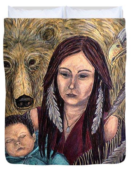 Motherhood-guardian Spirits Duvet Cover