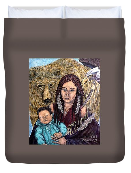 Motherhood-guardian Spirits Duvet Cover