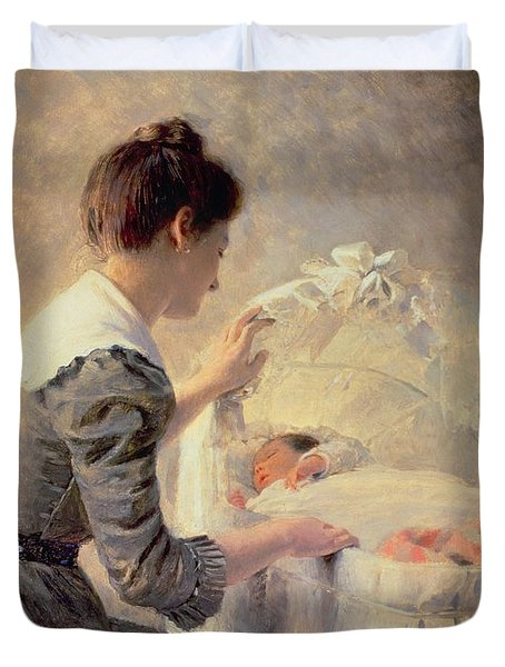 Motherhood Duvet Cover by Louis Emile Adan