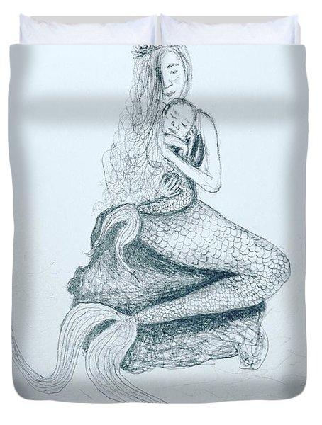 Motherhood Mermaid Duvet Cover