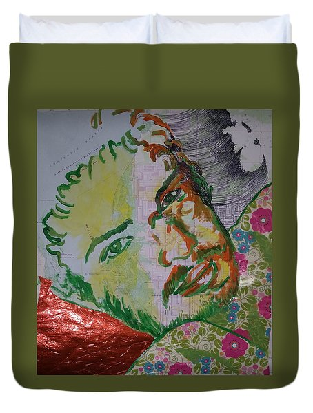 Duvet Cover featuring the painting Mothering Max by Tilly Strauss