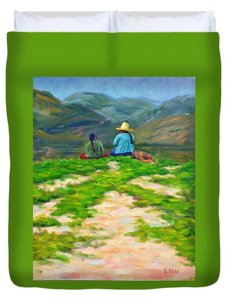 Motherly Advice, Peru Impression Duvet Cover