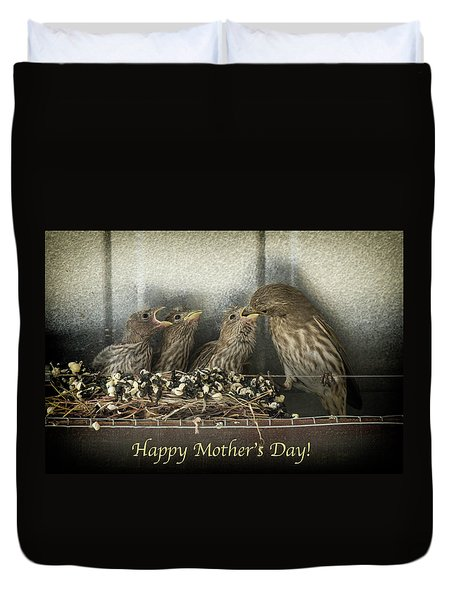 Duvet Cover featuring the photograph Mother's Day Greetings by Alan Toepfer
