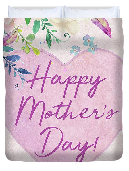Mother's Day Wishes Duvet Cover