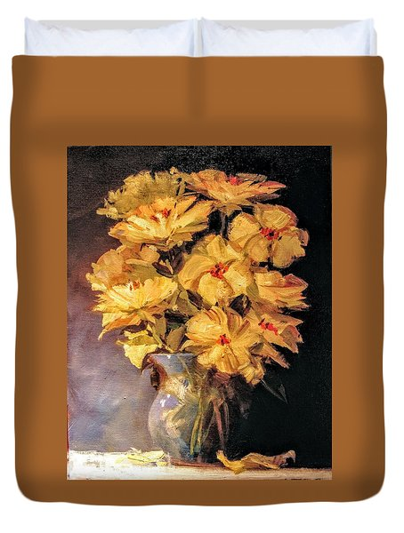 Mother's Favorite Vase Duvet Cover