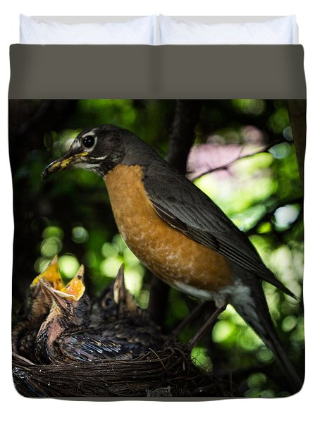 Mother's Watchful Eye Duvet Cover