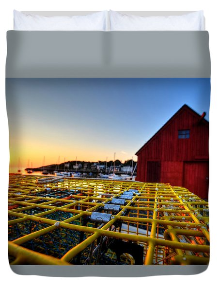 Motif 1 Lobster Trap Sunrise Duvet Cover