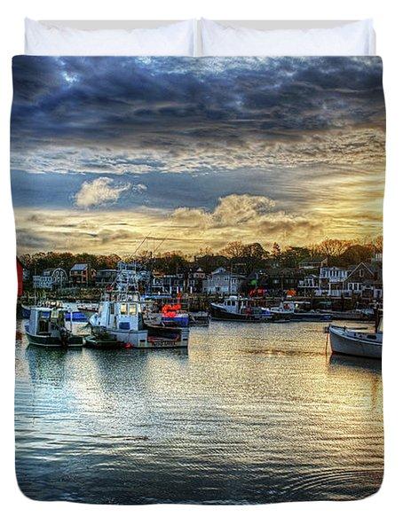 Motif #1 Sunrise Rockport Ma Duvet Cover