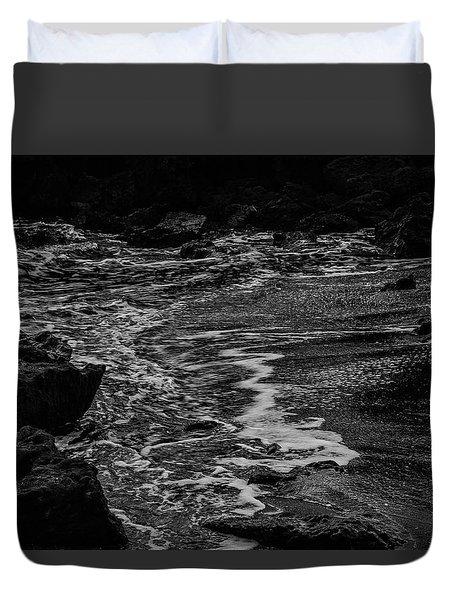 Motion In Black And White Duvet Cover