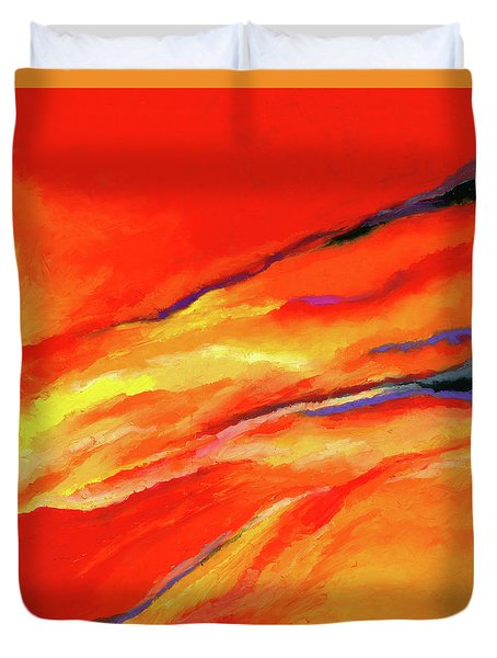 Duvet Cover featuring the painting Motivation by Stephen Anderson