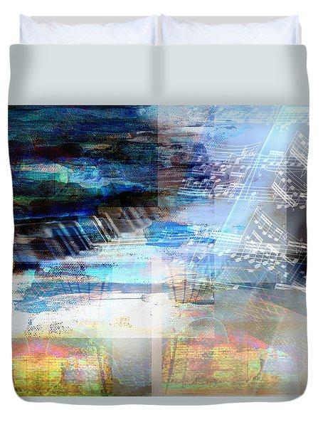 Motivational Piano Duvet Cover
