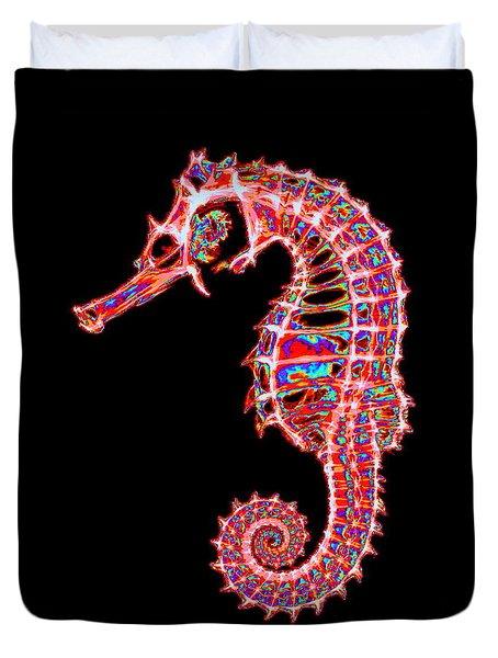 Motley Hippocampus Duvet Cover