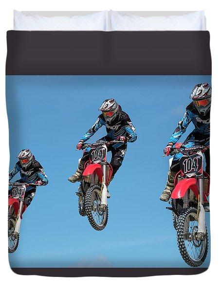 Motocross Riders Duvet Cover