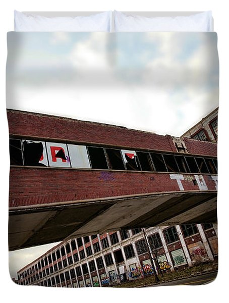Motor City Industrial Park The Detroit Packard Plant Duvet Cover