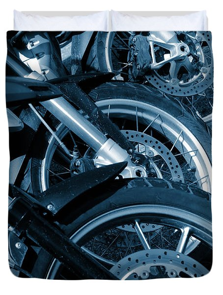 Motorbike Wheels Duvet Cover