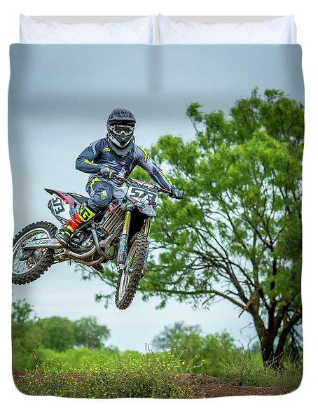 Motocross Aerial Duvet Cover
