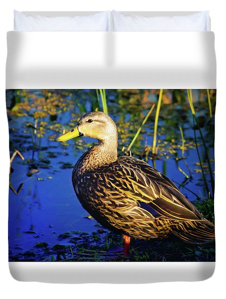 Mottled Duck Duvet Cover