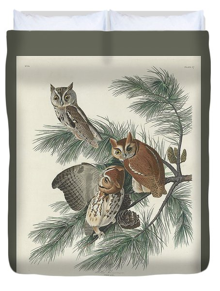 Mottled Owl Duvet Cover