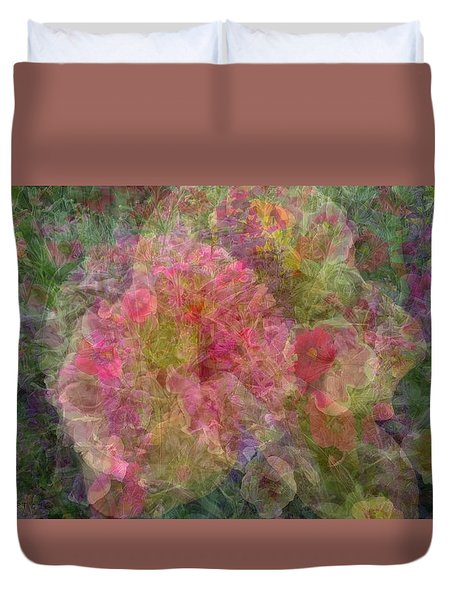 Mottled Pink Collage Pop Duvet Cover