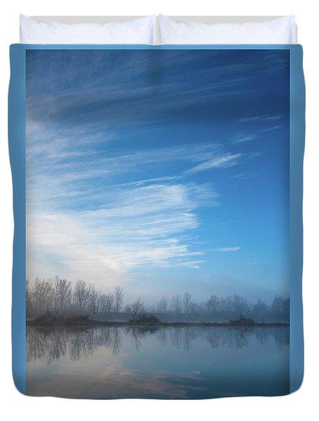 Duvet Cover featuring the photograph Mottled Sky by Davor Zerjav