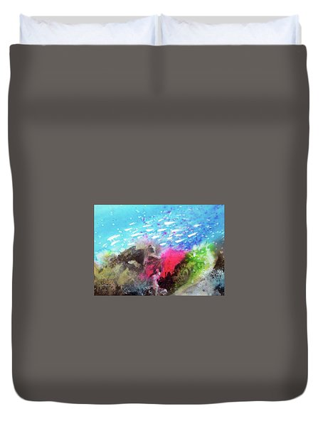 Motu Anua Duvet Cover by Ed Heaton