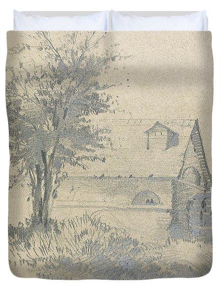 Moulin On The Lezarde Duvet Cover