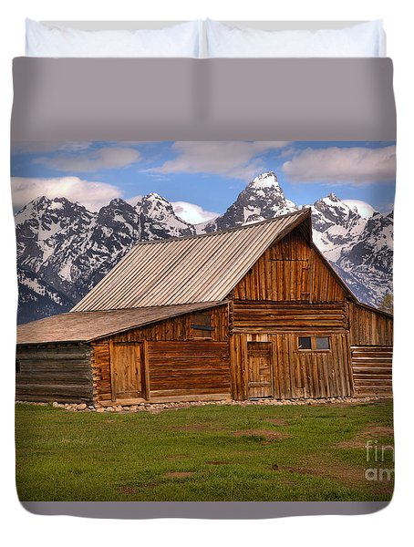 Moulton Barn Spring Landscape Duvet Cover by Adam Jewell