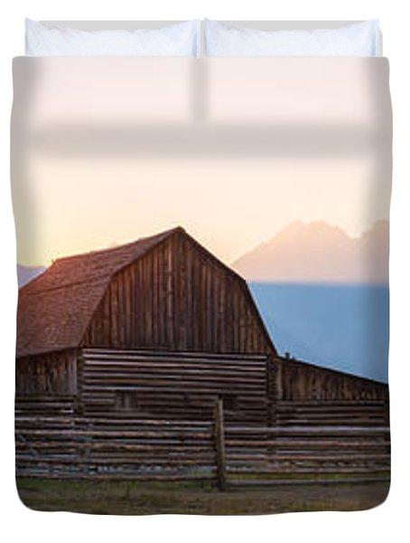 Moulton Ranch Cabins Hazy Sunset Duvet Cover