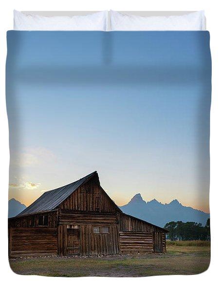 Moulton Ranch Sunset At Mormon Row  Duvet Cover