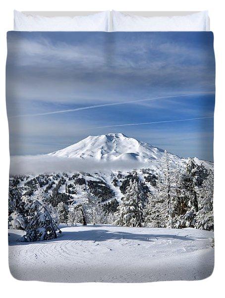 Mount Bachelor Winter Duvet Cover