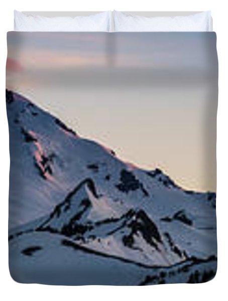 Mount Baker Dusk Panorama Duvet Cover