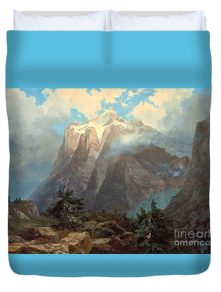 Mount Brewer Kings Canyon Duvet Cover