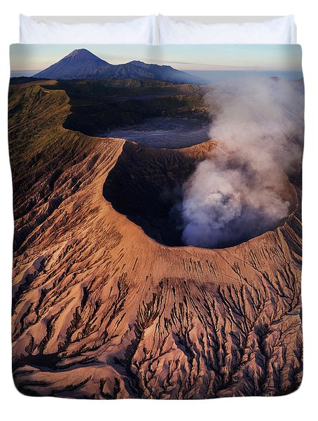 Duvet Cover featuring the photograph Mount Bromo At Sunrise by Pradeep Raja Prints