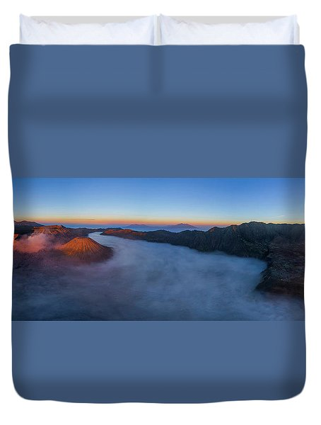 Duvet Cover featuring the photograph Mount Bromo Scenic View by Pradeep Raja Prints