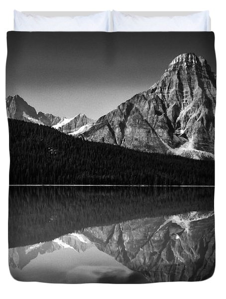 Mount Chephren Reflection Duvet Cover