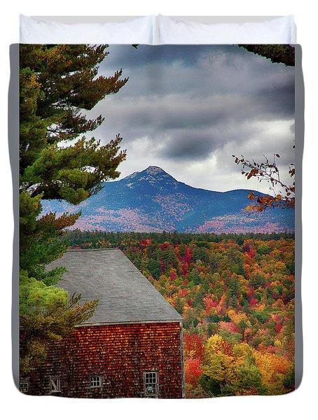 Mount Chocorua Over The Barn Duvet Cover