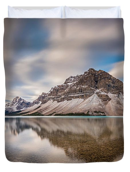 Mount Crowfoot Reflection Duvet Cover