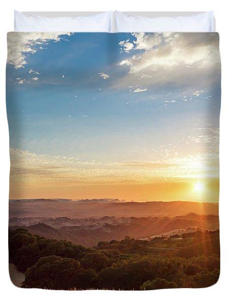 Mount Diablo Sunset Duvet Cover
