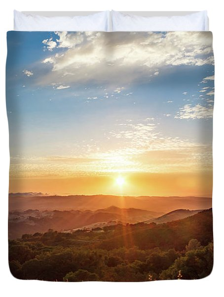 Mount Diablo Sunset Duvet Cover