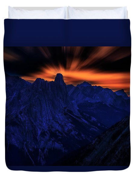 Mount Doom Duvet Cover